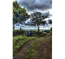 Farm track, near Tedburn St Mary, Devon Photographic Print