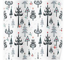 Christmas Tree Forest Poster