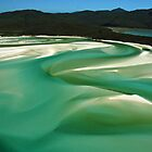 The Shifting Sands of Hill Inlet Whitsunday Island Queensland by Janette Rodgers