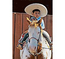 Youngest Cowboy Photographic Print