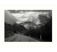 Moving toward a rainy day Art Print