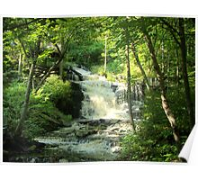 Water Falls in the Catskill Mt's. Poster