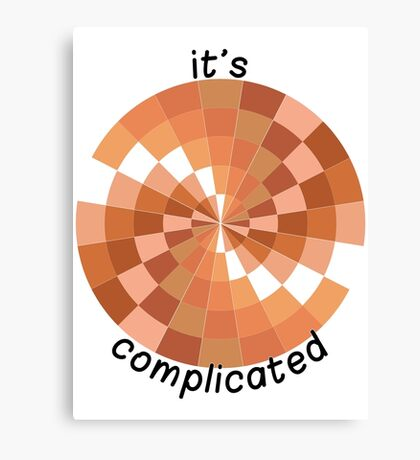 It's Complicated (with text) Canvas Print