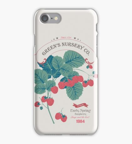 Veg Love Collection No.4 Raspberry iPhone Case/Skin