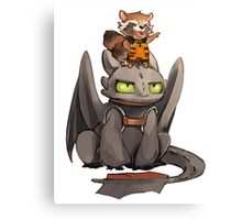 How to train your dragon ! Canvas Print