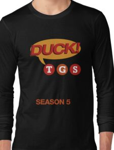 """30 Rock """"Duck!"""" T-shirt Long Sleeve T-Shirt"""