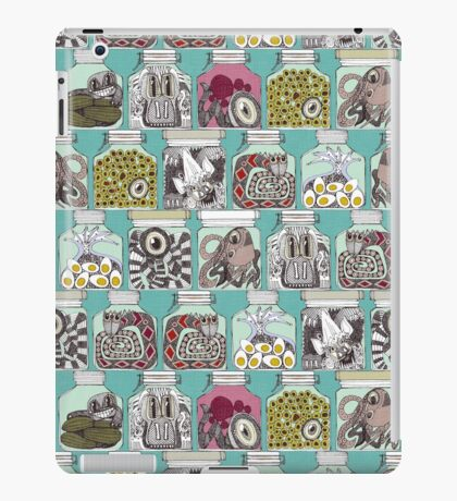 weird pickles blue iPad Case/Skin