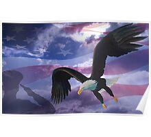 Patriot eagle Poster