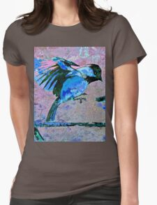 Blue Birds Womens Fitted T-Shirt