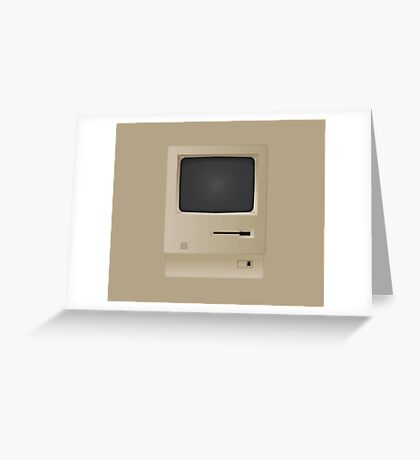Old Retro Vintage PC Computer  Greeting Card