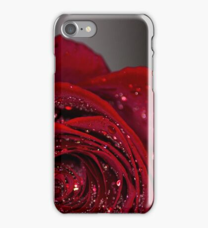 Red Rose macro 2 iPhone Case/Skin