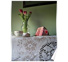 Cake and Tulips Poster