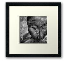 Zen statue Framed Print