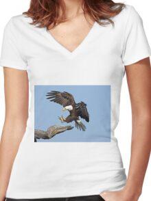 The landing  Women's Fitted V-Neck T-Shirt