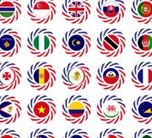 Multinational Patriot Flag Collective 1.0 Sticker