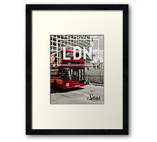 LDN - Bus Framed Print