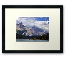 Two Peaks-Maligne Lake Framed Print
