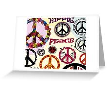 Flower Power Peace And Love Hippie  Greeting Card