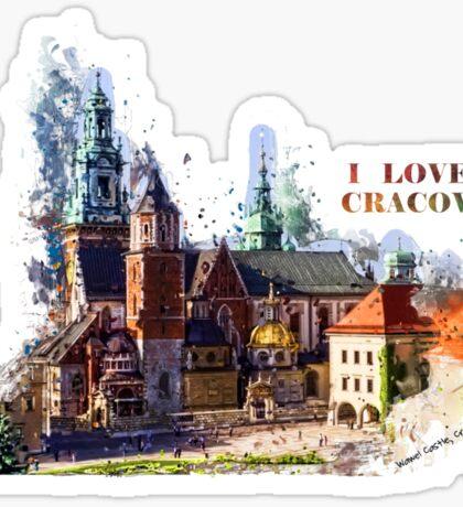 I love Cracow Wawel Castel Sticker