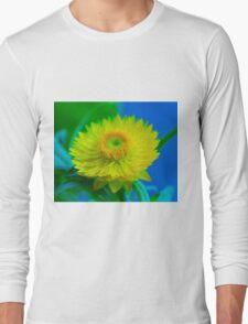 Fuzzy Yellow Long Sleeve T-Shirt