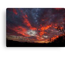 Blazing Clouds Canvas Print
