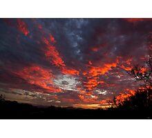 Blazing Clouds Photographic Print
