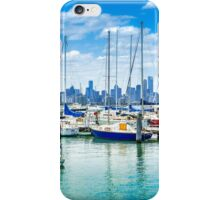 Melbourne Skyline from Williamstown iPhone Case/Skin