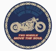 Two wheels move the soul by auto-pilot