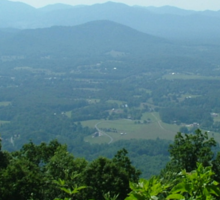 View of the Mountains from Monticello Sticker