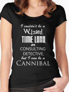 but I can be a cannibal Women's Fitted Scoop T-Shirt