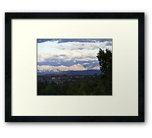 Sunshine On The Rockies Framed Print