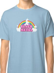 BLACK METAL! (Funny Unicorn / Rainbow Mosh Parody Design) Classic T-Shirt