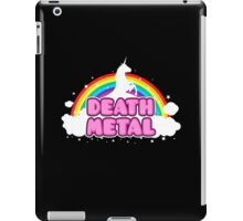 DEATH METAL! (Funny Unicorn / Rainbow Mosh Parody Design) iPad Case/Skin