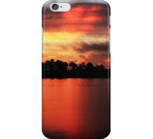 Sunrise at Webb lake iPhone Case/Skin