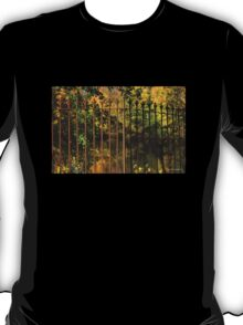 Autumn Reflections Through the Fence T-Shirt