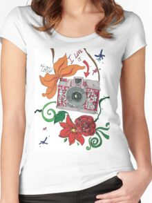 Photographer style Women's Fitted Scoop T-Shirt
