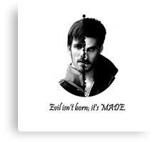 OUAT Hook - Evil isn't born Canvas Print