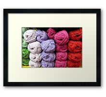 Let's Knit Framed Print