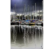 Mast Reflections Photographic Print