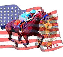 American Pharoah 2015 by Ginny Luttrell