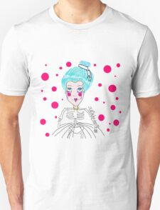 Doll girl with heart mouth Unisex T-Shirt