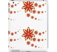 Red Flower Pattern iPad Case/Skin