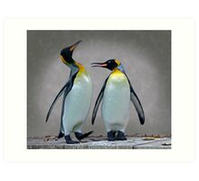 The Penguin who would be King Art Print
