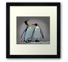 The Penguin who would be King Framed Print