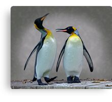 The Penguin who would be King Canvas Print