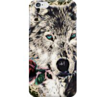 Wolf with Rose, Love Symbol, Wolves, Nature, Native, Splash,  iPhone Case/Skin