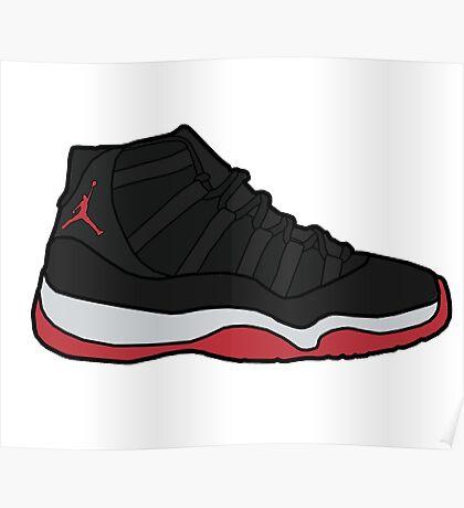 Jordan 11 Bred Poster