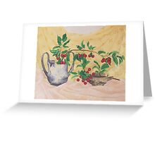 Wild Cherries and antiquities Greeting Card
