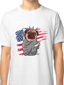 4th of July Independence Pug Classic T-Shirt