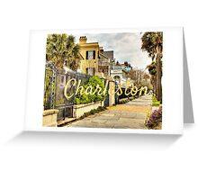 Charleston Rainbow Row Greeting Card